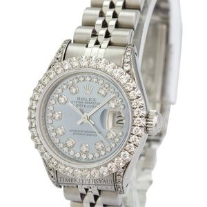 Rolex Lady Datejust Diamond Dial Lugs Bezel